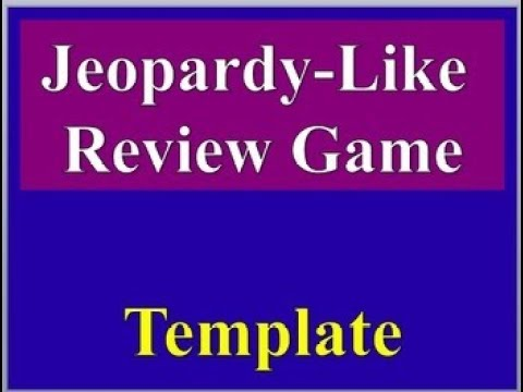 Jeopardy Like Review Game Biology Cells And Body Systems Customizable