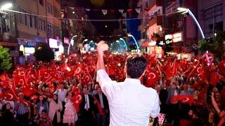 Gümüşhane'de Demokrasi Nöbeti uygulaması Uğur Işılak konseriyle son buldu