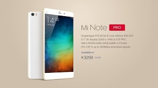 new xiaomi mi note mi note pro official galaxy note 4 iphone 6 plus rival phone