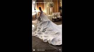 Свадебное платье Саши Артемовой, прямой эфир Instagram 24-11-2017