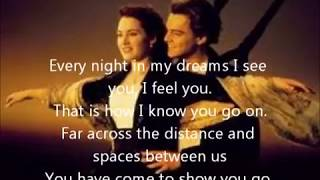 My Heart Will Go On I Titanic (Lyrics)