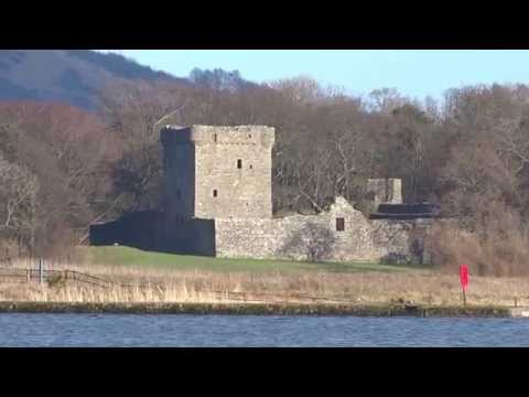 Winter Lochleven Castle Kinross Perthshire Scotland