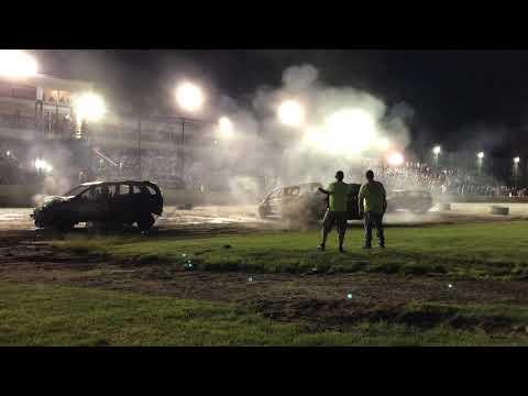 Brewerton Speedway Van Demolition Derby