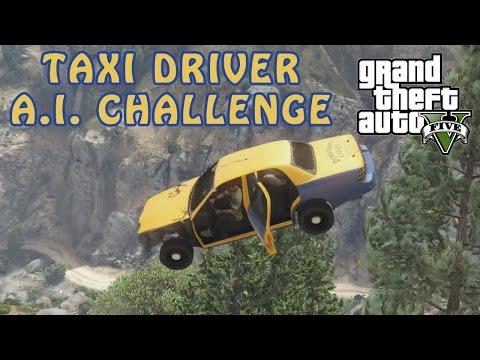 GTA V Taxi Driver A.I. Challenge! - Do I Succeed?