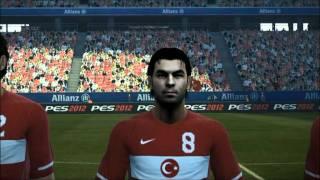 Türkei vs Bosnien Pes 2012 Nationalhymne