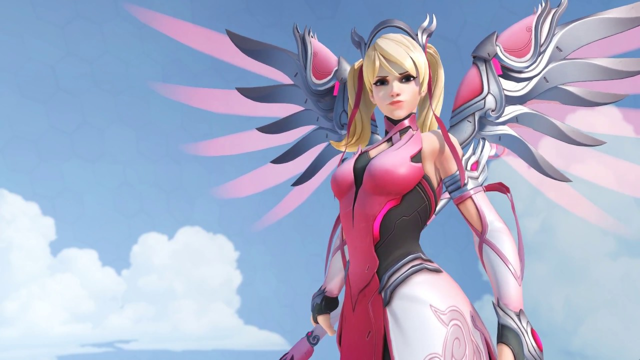 Pink Mercy Overwatch Live Wallpaper Youtube
