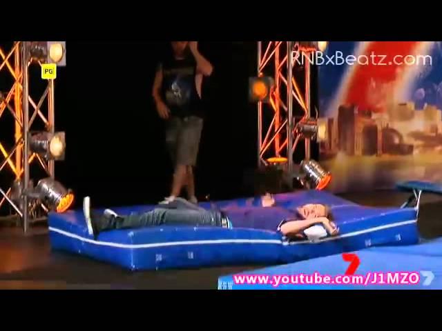 Australia's Got Talent 2012 – Brian McFadden does a flip