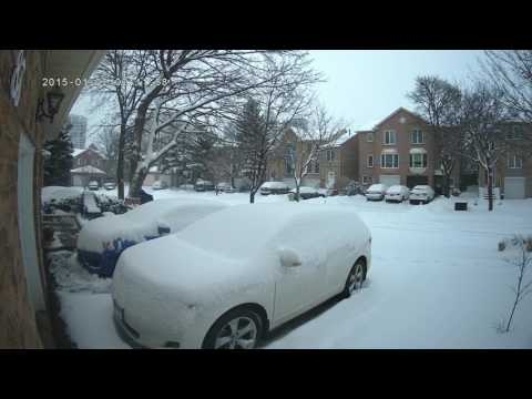 Snow in Thornhill Ontario Canada.
