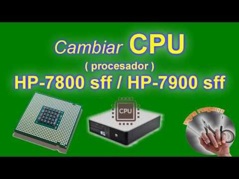 Cambiar procesador en HP modelos DC formato SFF