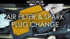 How To Change Motorcycle Air Filter & Spark Plugs (Kawasaki ER-6n)