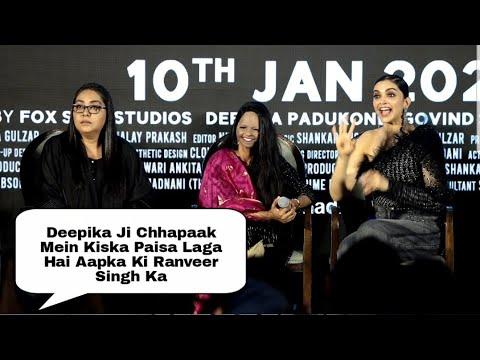 Deepika Padukone HILARIOUS Moment... Kiska Paisa Laga Hai Madam | Chhapaak Title Track Launch