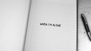 Lissie - When I'm Alone (Piano Version) [Lyric Video]