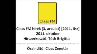 Class FM hírek (2011. ősz) 3. arculat