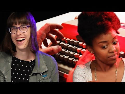 People Try Typewriters For The First Time