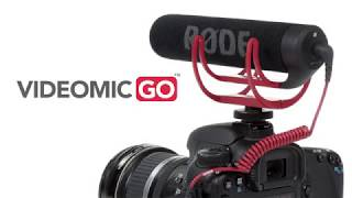Rode VideoMic GO Light Weight On-Camera Microphone, Delivers clear, crisp, directional audio