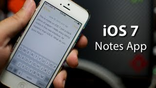 iOS 7 - Notes App On iPhone 5