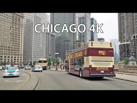 Driving Downtown - Chicago USA 4K