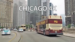 Driving Downtown   Chicago 4K   USA