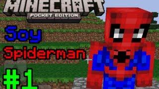 Mini-Serie Minecraft PE: Soy Spiderman Ep. 1