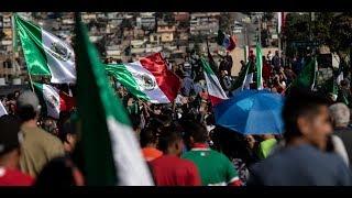 En la frontera con EE.UU.  Tensión en Tijuana inmigrantes hondureños