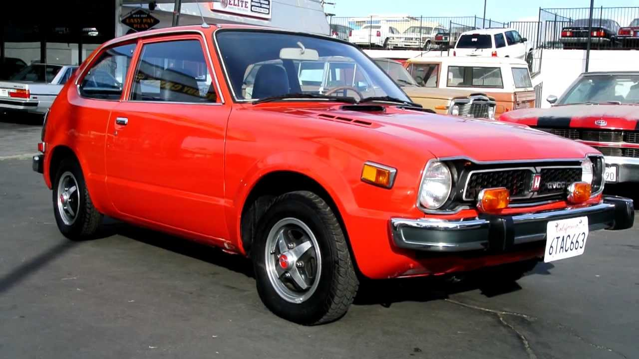 1977 Honda Civic CVCC Hatchback JDM Red Coupe 1st Gen Classic