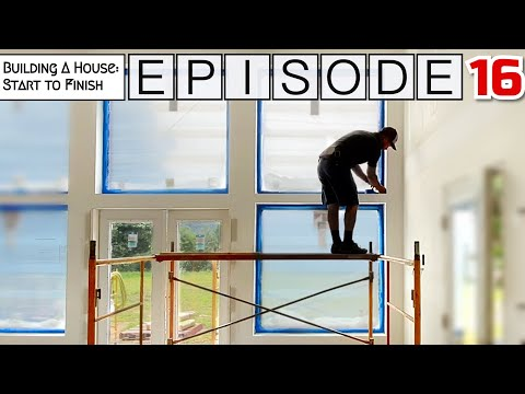 Building A House Start To Finish   Episode 16: Drywall, prime, paint