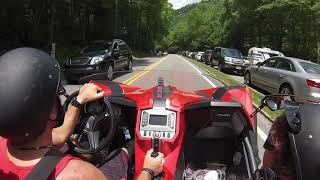 2018 Polaris Slingshot -- Riding Down Mount Le Conte (near Gatlinburg) Great Scenery