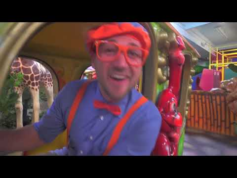 Blippi learns about jungle animals for kids | Educational