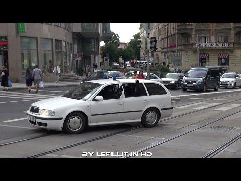 SPEZIAL Gegenentransport Justizwache Prag  Vermummte Beamte  Verkehr anhalten