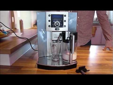 delonghi esam 5500 cappuccino test kaffeevollautomat test deutsch youtube. Black Bedroom Furniture Sets. Home Design Ideas