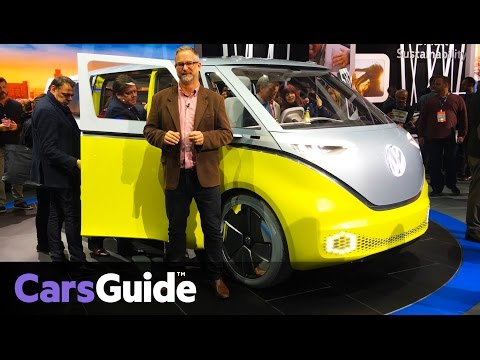 Volkswagen ID Buzz camper concept revealed at the 2017 Detroit motor show | video
