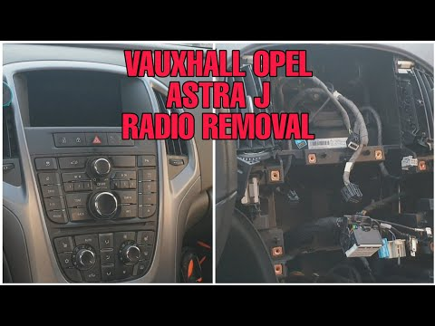 How to remove the OPEL ASTRA J factory Radio 👨🔧🚗