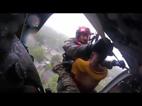 USAF Pararescuemen Airlift Hurricane Harvey Flood Victims!