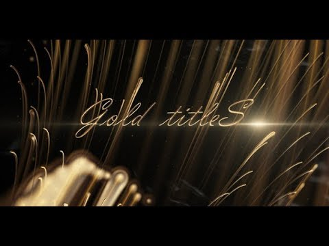 Gold Titles | After Effects Template