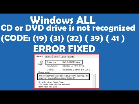 How To Fix Your Cd Or Dvd Drive Is Not Recognized All Codes By Windows Error