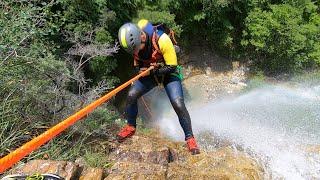 Déconfinement aquatique dans les grandes verticales du vallon de la Peïra ! 💦