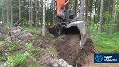 Sähköverkon kaapelointi Elenia Säävarma Pohjaslahti, Mänttä-Vilppula