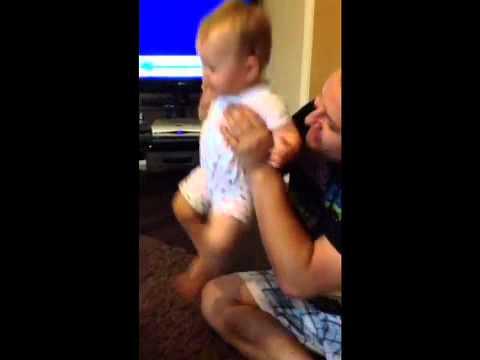 11 month old Shola Niamh raving to her dave hardcore dj dar