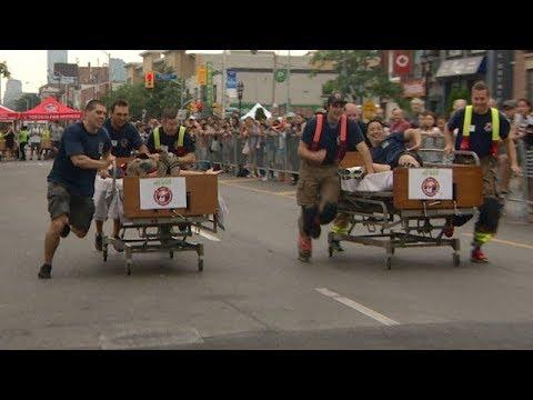Danforth Dash bed race kicks off Taste of the Danforth festival