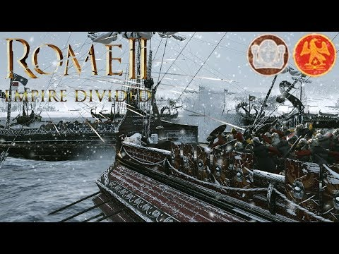 MASSIVE 16,000 MAN FIGHT FOR LAND AND SEA! - Empire Divided DLC Gameplay - Rome 2