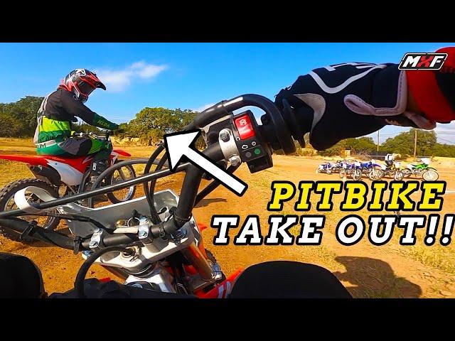 CRAZY 4 Person Pit Bike Race!! | Coaches Challenge
