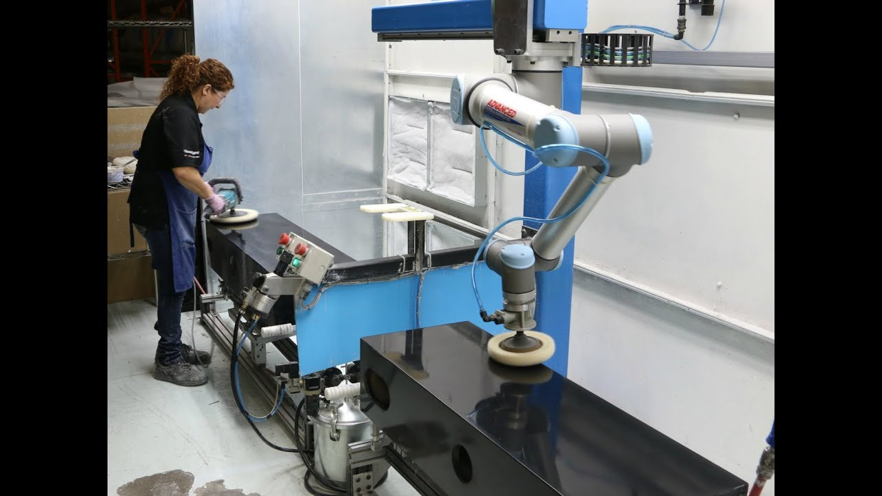 A collaborative robot from Universal Robots polishes Paradigm to 50% production increase