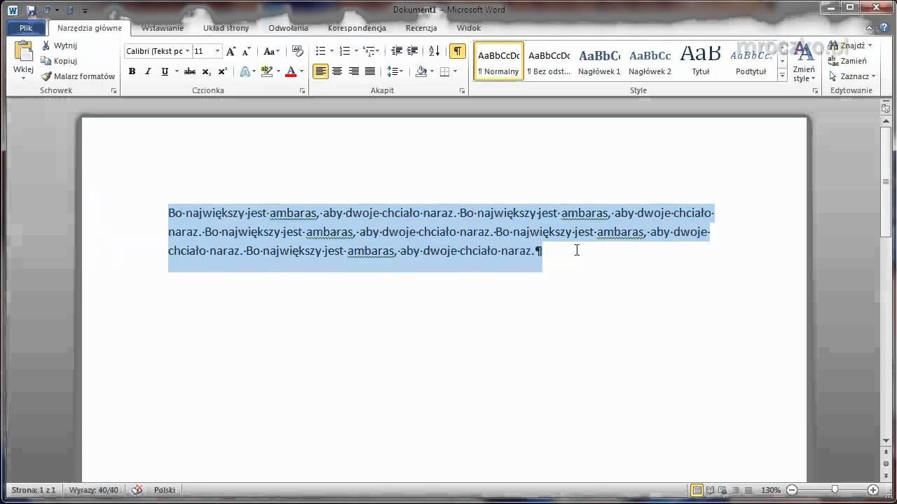 Microsoft Word Jak Ustawić Odstępy Pomiędzy Wierszami I Akapitami