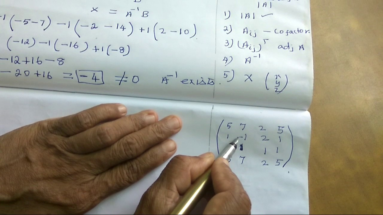 2 Maths - Matrices - Exercise 1.2 - Sum 3 - YouTube