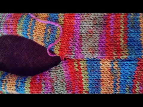 Tricot couture invisible: mousse et jersey endroit - YouTube