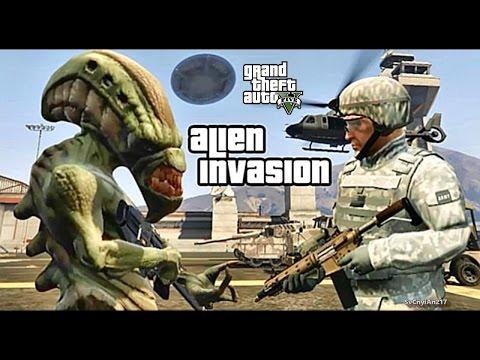 LSPDFR #479 ALIEN INVASION!! (GTA 5 REAL LIFE POLICE MILITARY PC MOD)