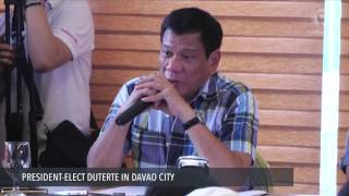 President-elect Duterte's first press conference Monday, May 16 (Part 1)