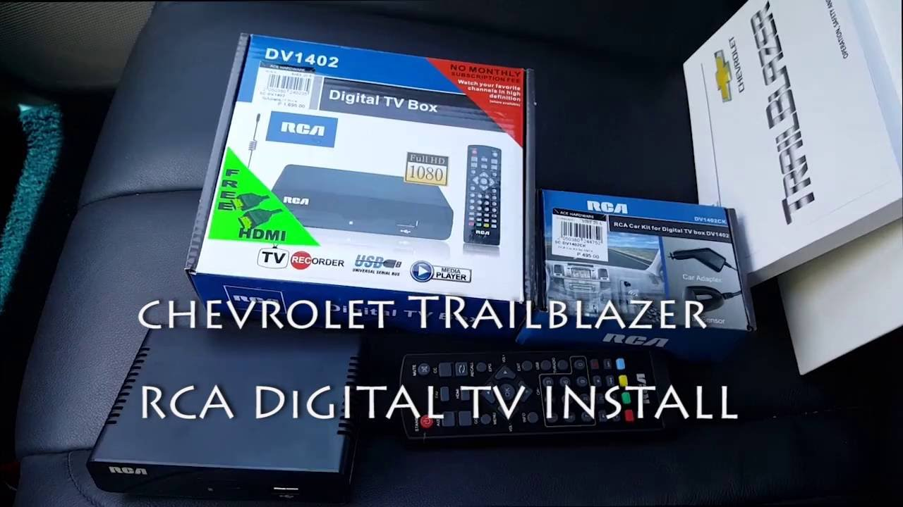 chevrolet trailblazer rca digital tv box install youtube. Black Bedroom Furniture Sets. Home Design Ideas