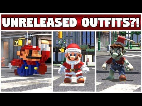 UNRELEASED COSTUMES IN ODYSSEY!! | Tutorial? | Super Mario Odyssey Showcase