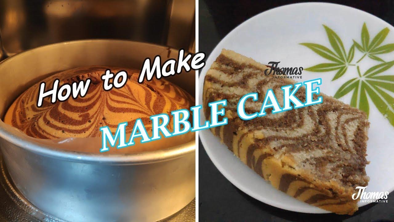 Marble cake| Chocolate Marble cake Malayalam recipe - YouTube
